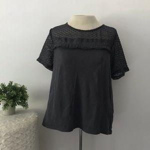 Loft lace short sleeve shirt